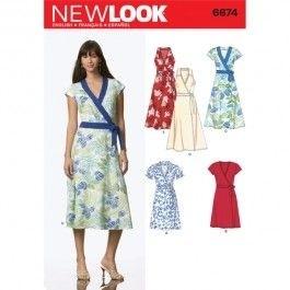 Pattern for Wrap Dress Workshop
