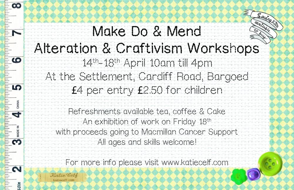 Make Do & Mend Sewing Workshops