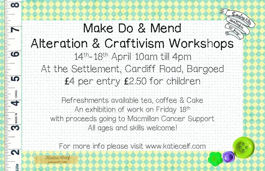 Craftivist workshop flyer