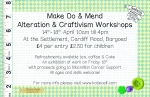 Craftivist workshop flyer